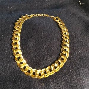 Monet Vintage Heavy Gold Tone Necklace
